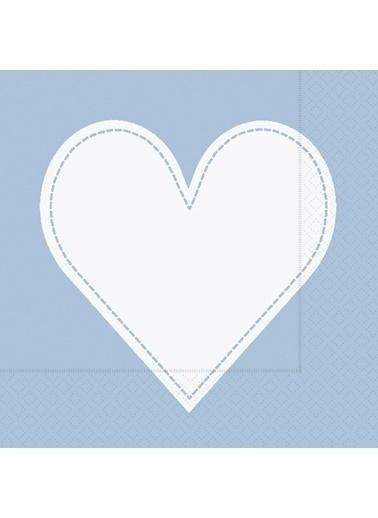 Dünya Style Heart Light Blue Peçete Renkli